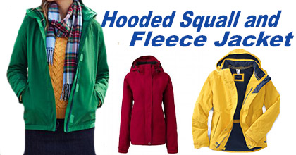 """""""Women's Hooded Squall and Outrigger Fleece Jacket"""""""