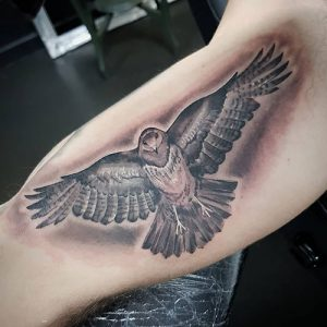 """Awesome Eagle Inner Arm Tattoo"""