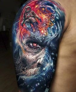 """Awesome looking colorful tattoo"""
