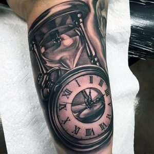 """(Time and tide wait for none) the awesome tattoo for men"""