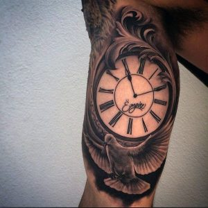 """Timepiece tattoo for men bicep"""