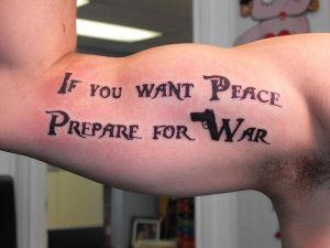 """Universal truth quote tattoo for men inner bicep"""