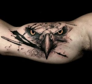 """awesome Eagle looking tattoo"""