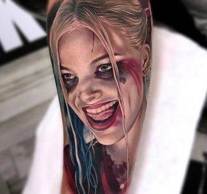 """realistic harley quinn tattoo"""