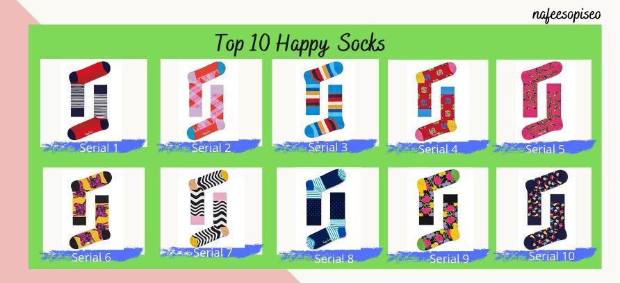 Top 10 Happy Socks