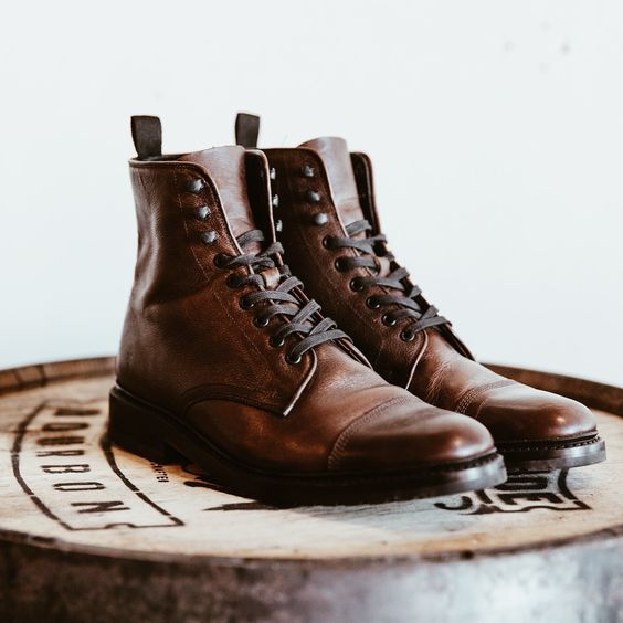 """""""Men's Leather Shoe Mens-Leather-Lace-Up-boots"""""""